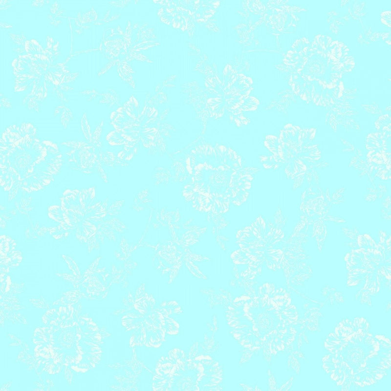 "Shadow Flower - Seafoam - 108"" Wide"
