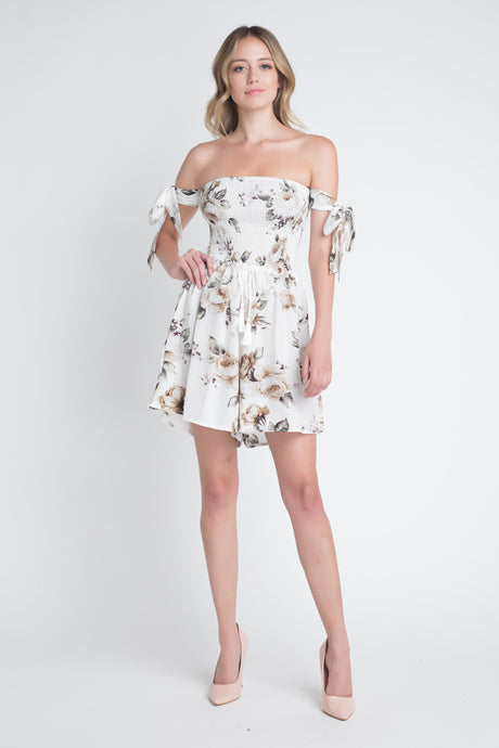 Evelyn's Off Shoulder Smocked Floral