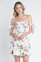 Load image into Gallery viewer, Evelyn's Off Shoulder Smocked Floral