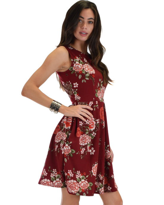 Evelyn's Favorite Floral Skater Dress With Pockets