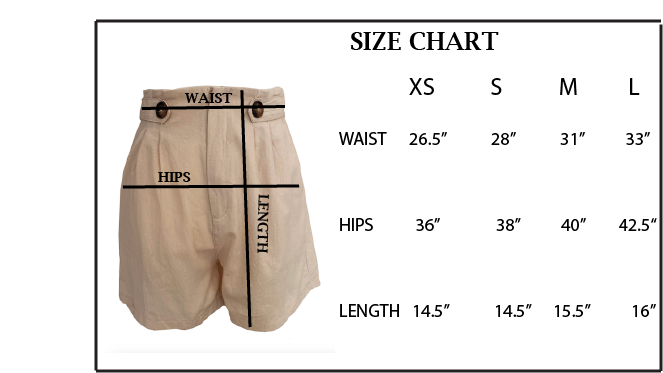 Women's Beige Casual High Waist Summer Beach Shorts with Pockets.