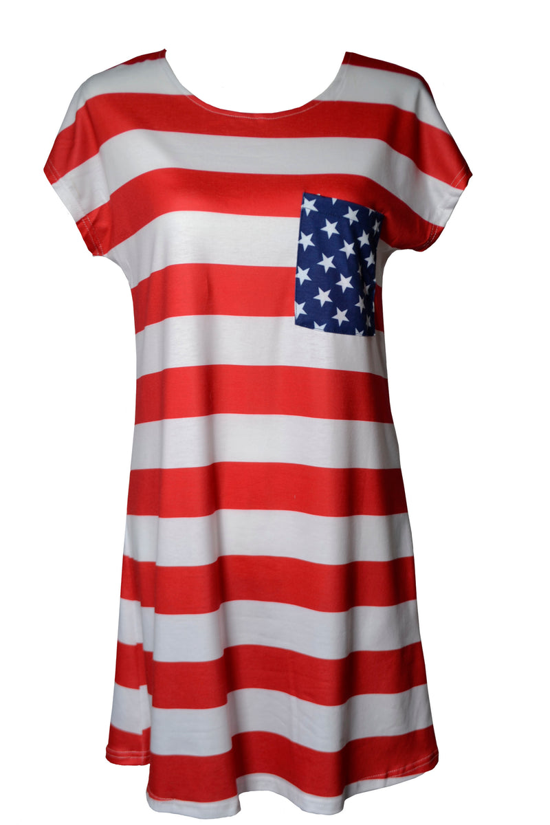 American Flag Shirt Dress