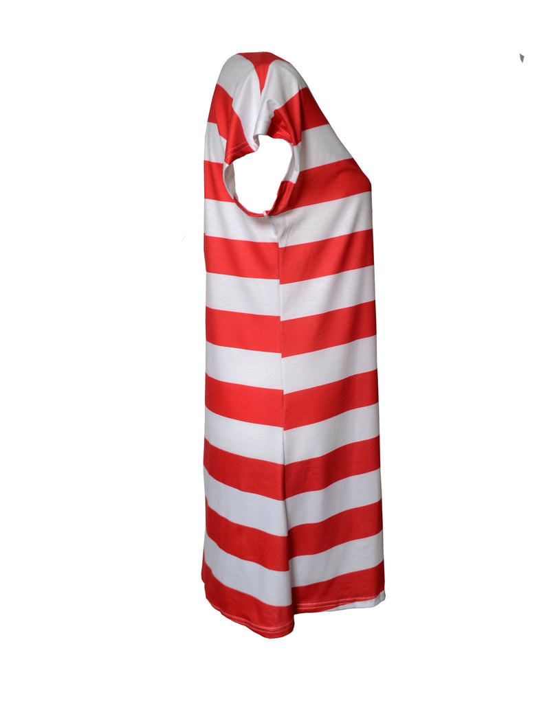 Side View of American Flag Dress