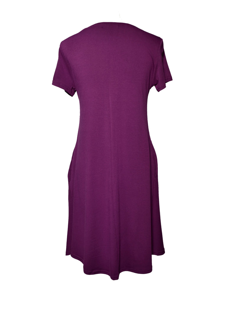 Purple Flow Dress Inside Pockets