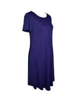 Navy Blue Flow Dress With Inside Pockets
