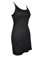 Black Slim Fit Tank Top Dress