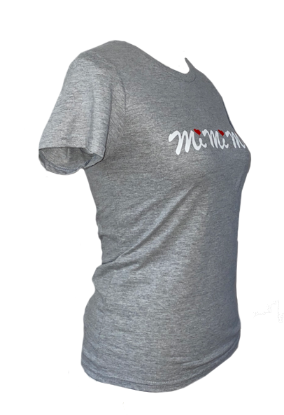 Women Slim Fit T-shirt White Red Logo MiMiMi