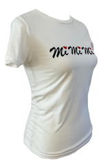 Women Slim Fit T-shirt Black Red Logo MiMiMi