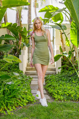 Olive Green Tank Top Dress