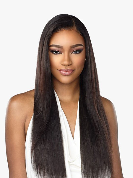 "100% Human Hair Wig 10A 360 STRAIGHT 28"" (Natural Black)"