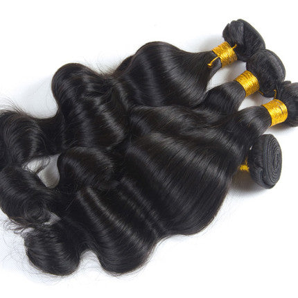 Black Gold 3 Bundle DEAL Brazilian Unprocessed Hair Body Wave (Natural Color)