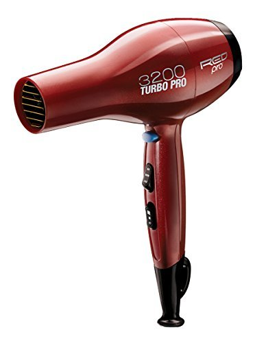 Red Pro by Kiss 3200 Turbo Pro Detangler Dryer