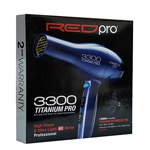 RED PRO Kiss 3300 Titanium Detangler AC Dryer
