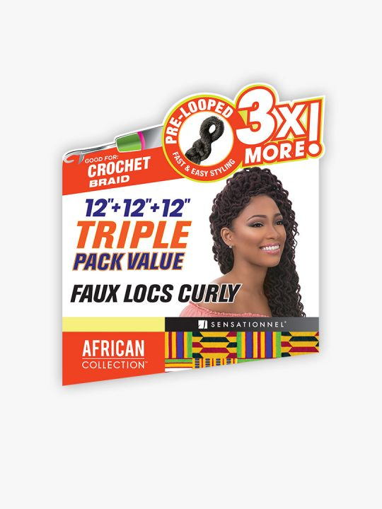 "12""+12""+12"" Faux Locs Curly Crochet (3X Pack)"