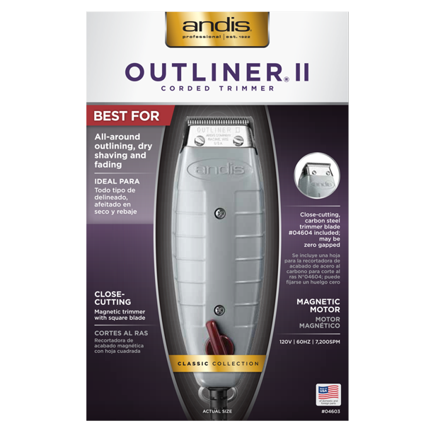 Andis Outliner II Square Blade Trimmer