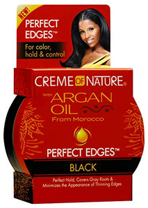"Creame Of Nature Argan Oil Edge Control ""BLACK"" 2.25 oz"