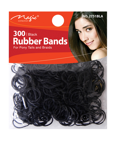 Black Rubber Bands 300 Pc