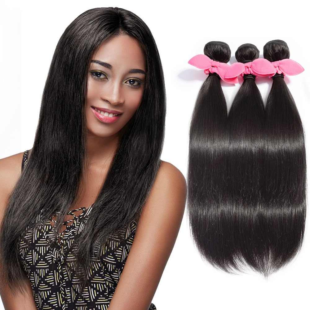 (3) Bundle DEAL Brazilian Unprocessed Hair Straight (Natural Color)