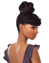 Sensationnel Synthetic Hair Instant Bun With Bangs Bria