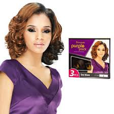 Premium Purple Pack Human Hair Blend 3pcs