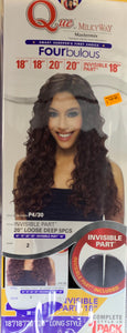 "Que MilkyWay MasterMix FourBulous Loose Deep 5 Pcs 18""/18""/20""/20"" + Invisible Part"
