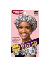 Premium Satin Sleep Cap Black And White dot