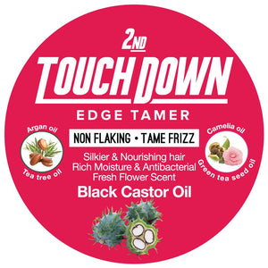 Touch Down Edge Control Black Castor Oil Non Flaking 2.82 oz