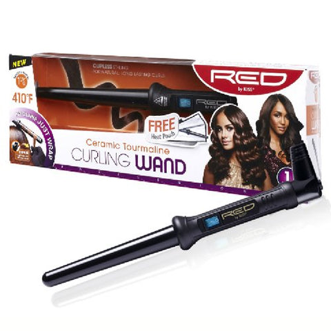 RED BY KISS Ceramic Tourmaline Curling Wand 1 1/2""