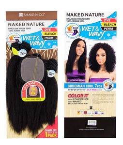 Naked Nature Brazillian Virgin Remy Human Hair Bundle