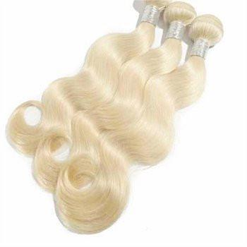 3 Bundle DEAL White Blond Brazilian Unprocessed Hair Body Wave & Straight (White Blond)