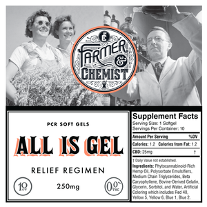 <big><b>ALL IS GEL</b></big><br> 10ct 25mg Soft Gels