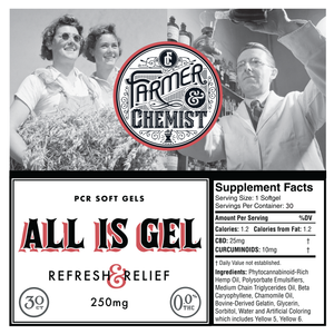 <big><b>ALL IS GEL</b></big><br> 30ct 25mg + Curcumin Soft Gels