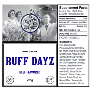 <big><b>RUFF DAYZ</b></big><br> 50ct Beef Flavored<br> Dog Soft Chews