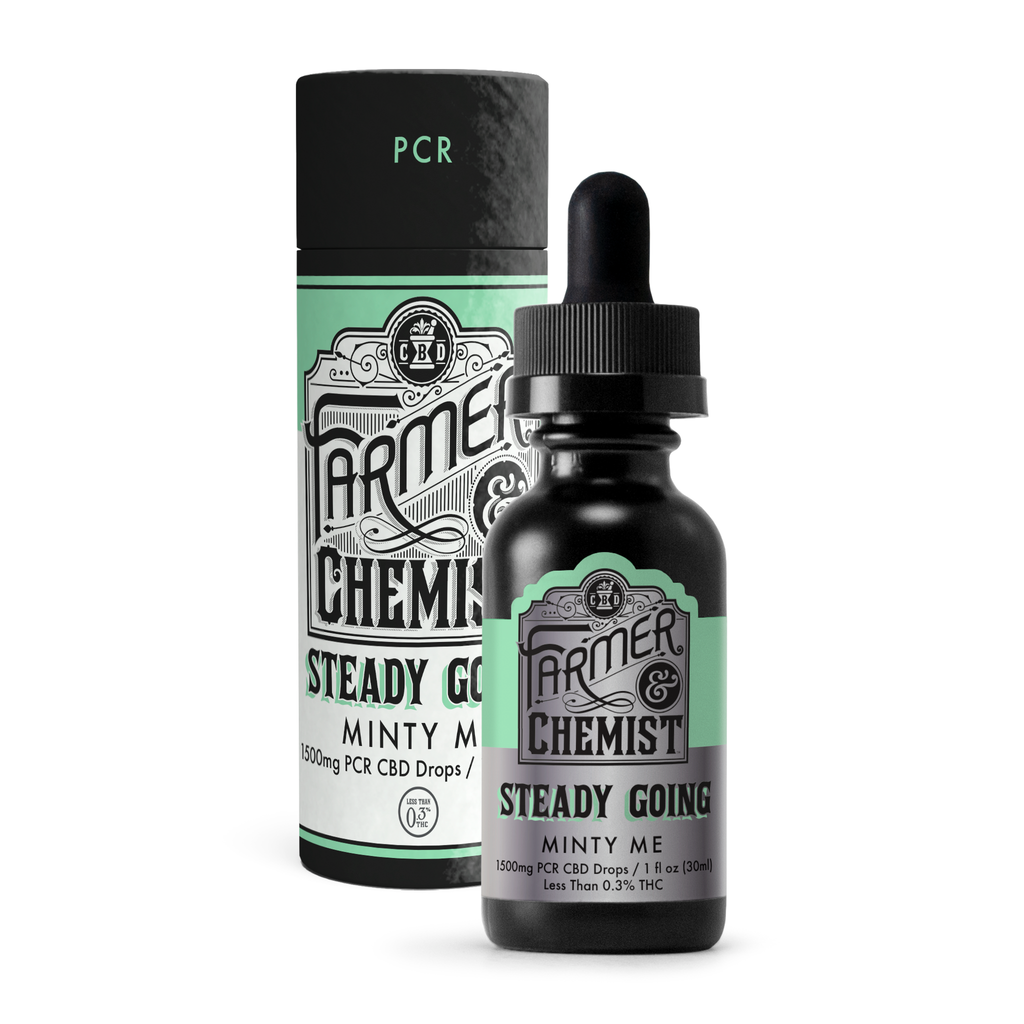 <big><b>STEADY GOING</b></big><br> Minty Me<br> 1500mg PCR Tincture
