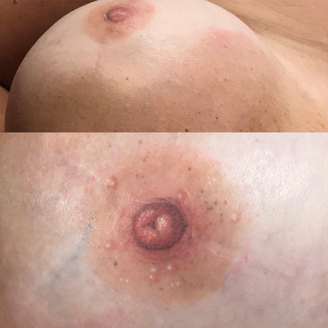 3D technique by Stacie-Rae, author, medical tattoo artist that created scarred silicone practice breasts for tattooists to train