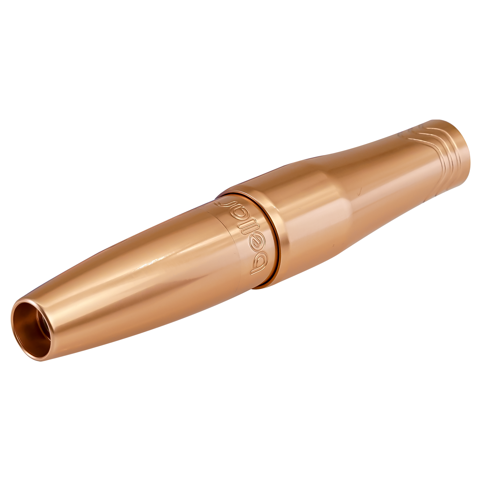 The Bellar PMU machine is one of the pros favorites for lip lining and hair strokes, in anodized alluminum, rose gold color