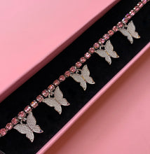 Load image into Gallery viewer, Pink Rhinestone Butterfly Choker