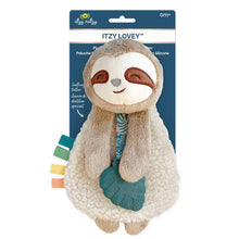 Load image into Gallery viewer, Itzy Lovey™ Plush with Silicone Teether Toy // Sloth