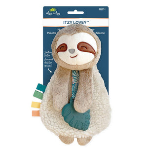 Itzy Lovey™ Plush with Silicone Teether Toy // Sloth