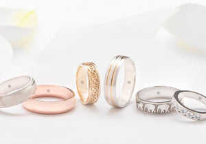 mens wedding rings and bands selection