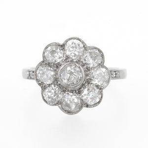 Rose Diamond cluster ring