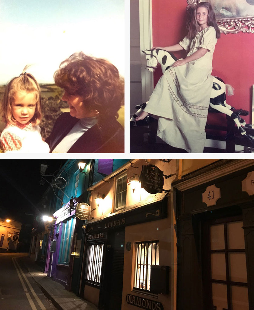 Linda's of Kinsale shop front at night