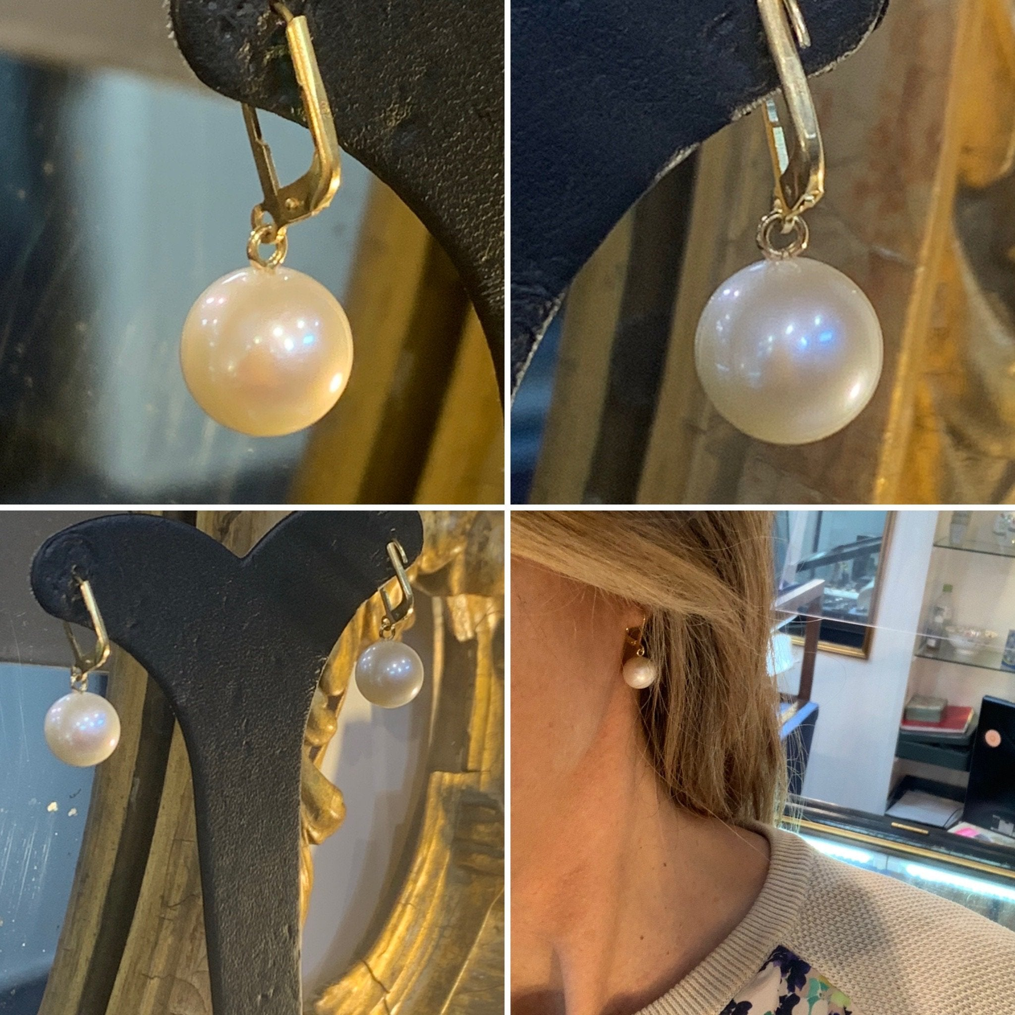 European Drop Akoya Pearl Earrings 8