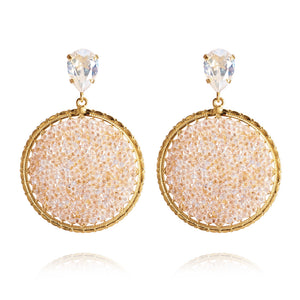Alexandra crystal rock earrings, Moonlight