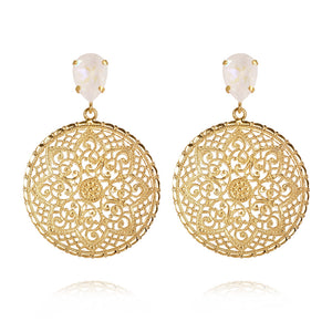 Alexandra earrings, Light delite