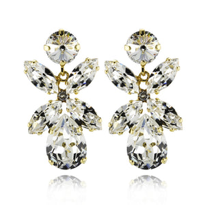 Dione Earrings, Crystal