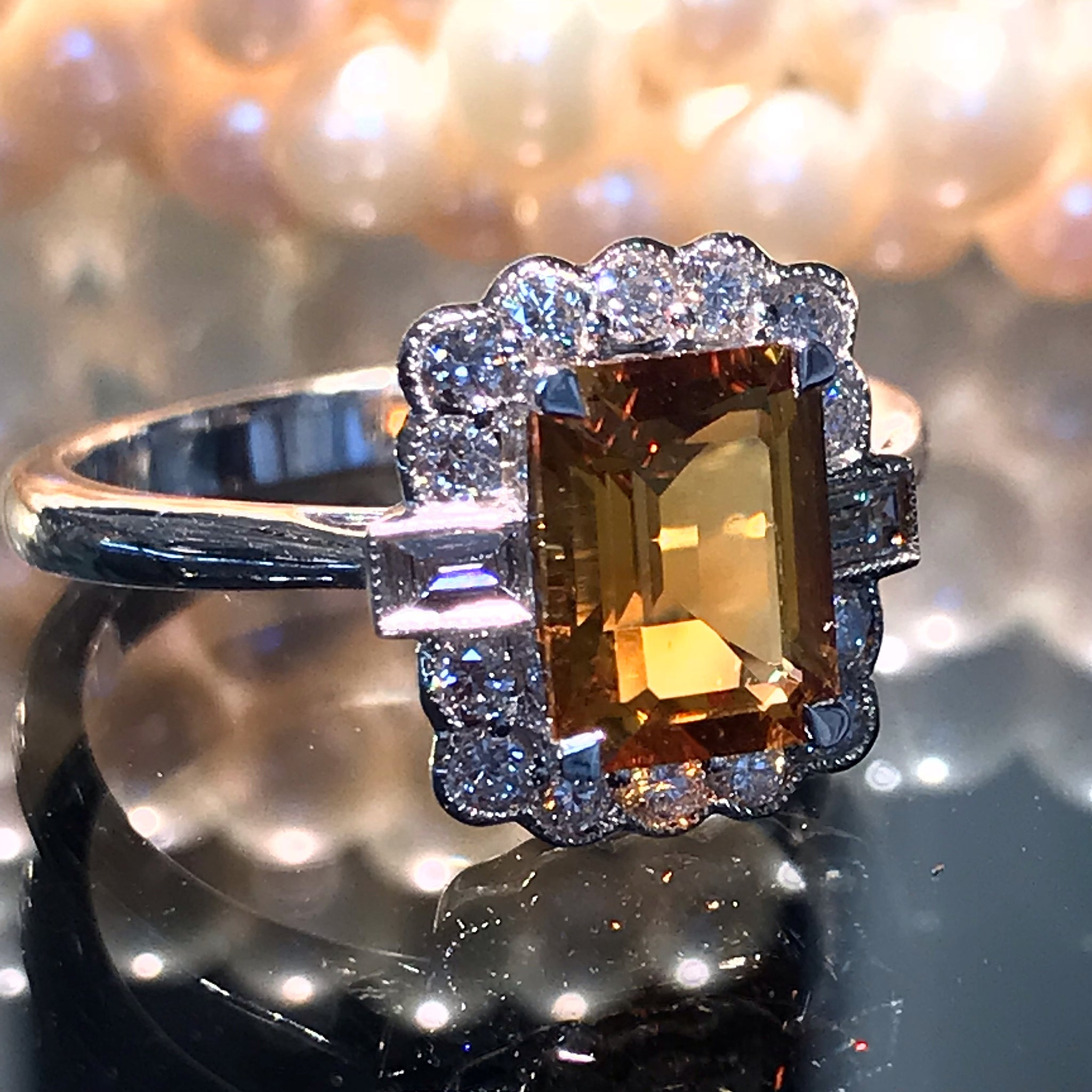 The Emerald Cut Citrine