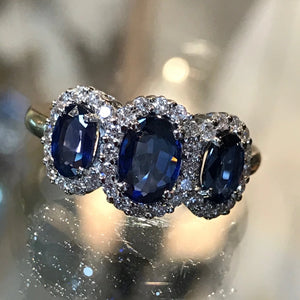 Triple Sapphire Cluster