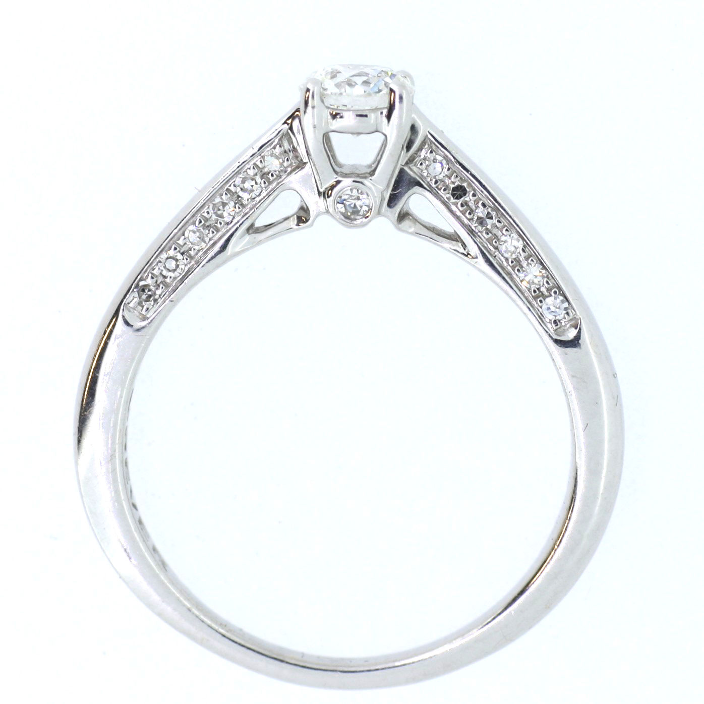 Solitaire with Diamond Set Mount