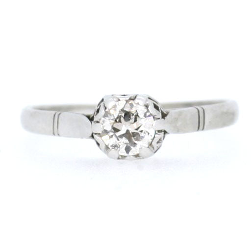 Art Deco Platinum Solitaire